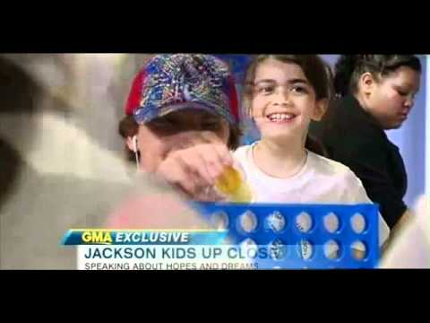 Jackson's kids GMA interview,BLANKET