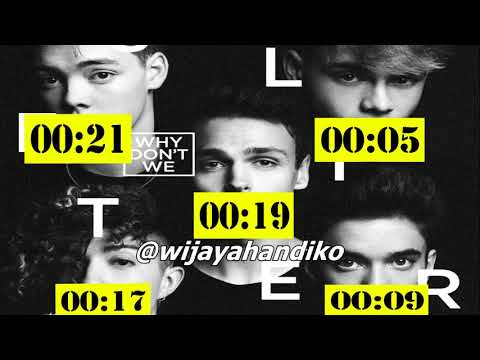 Why Don't We - 8 Letters (Line Distribution)