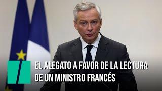 El emotivo alegato por la lectura del ministro francés Bruno Le Marie