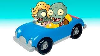 Plants vs Zombies Mega street race Zombie Toys PlayClayTV Aliexpress toy PVZ 2 GW2 animated cartoon