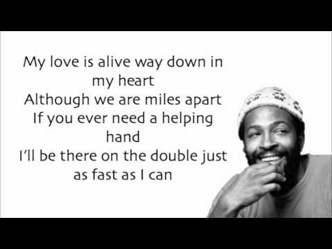 Marvin Gaye - Ain't No Mountain High Enough - Lyrics