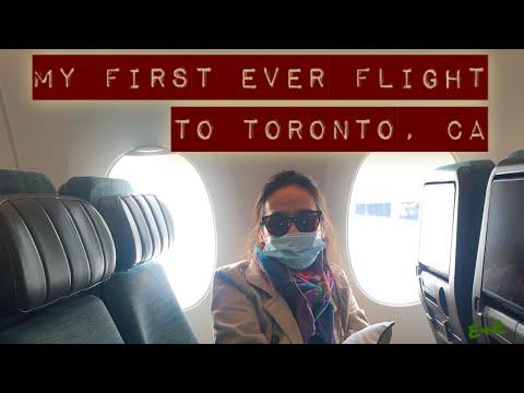 My First Ever Flight To Toronto, CA    Vlog  