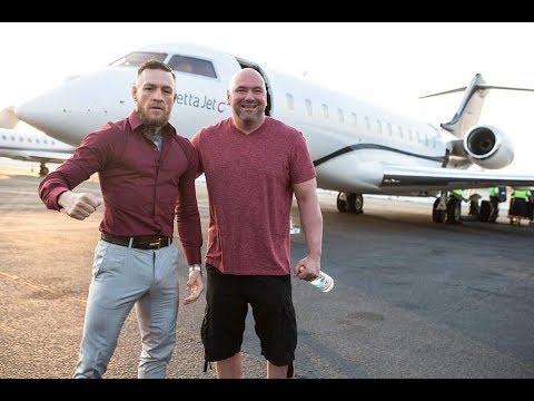 Conor McGregor Lands in LA with Dana White ahead of Press Tour