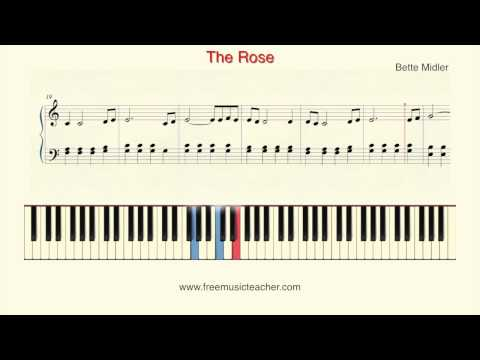 "How To Play Piano: Bette Midler ""The Rose"" Piano Tutorial by Ramin Yousefi"