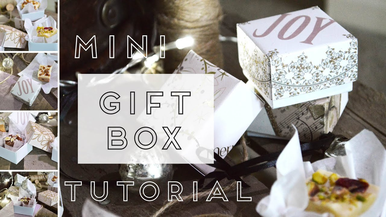 Craft tutorial: Recycled Christmas Card Gift boxes - YouTube