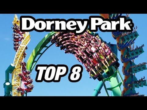 Top 8 Roller Coasters at Dorney Park!