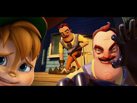 MY NEIGHBOR REALLY HATES CHIPMUNKS || Hello Neighbor ( Update Alpha Gameplay)