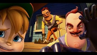 MY NEIGHBOR REALLY HATES CHIPMUNKS || Hello Neighbor ( Update Alpha Gameplay) thumbnail