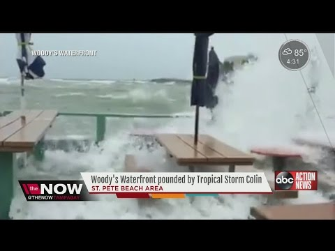 Woody's Waterfront tropical storm goes viral