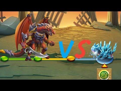 FIRE DRAGON VS ICE DRAGON MONSTER LEGEND