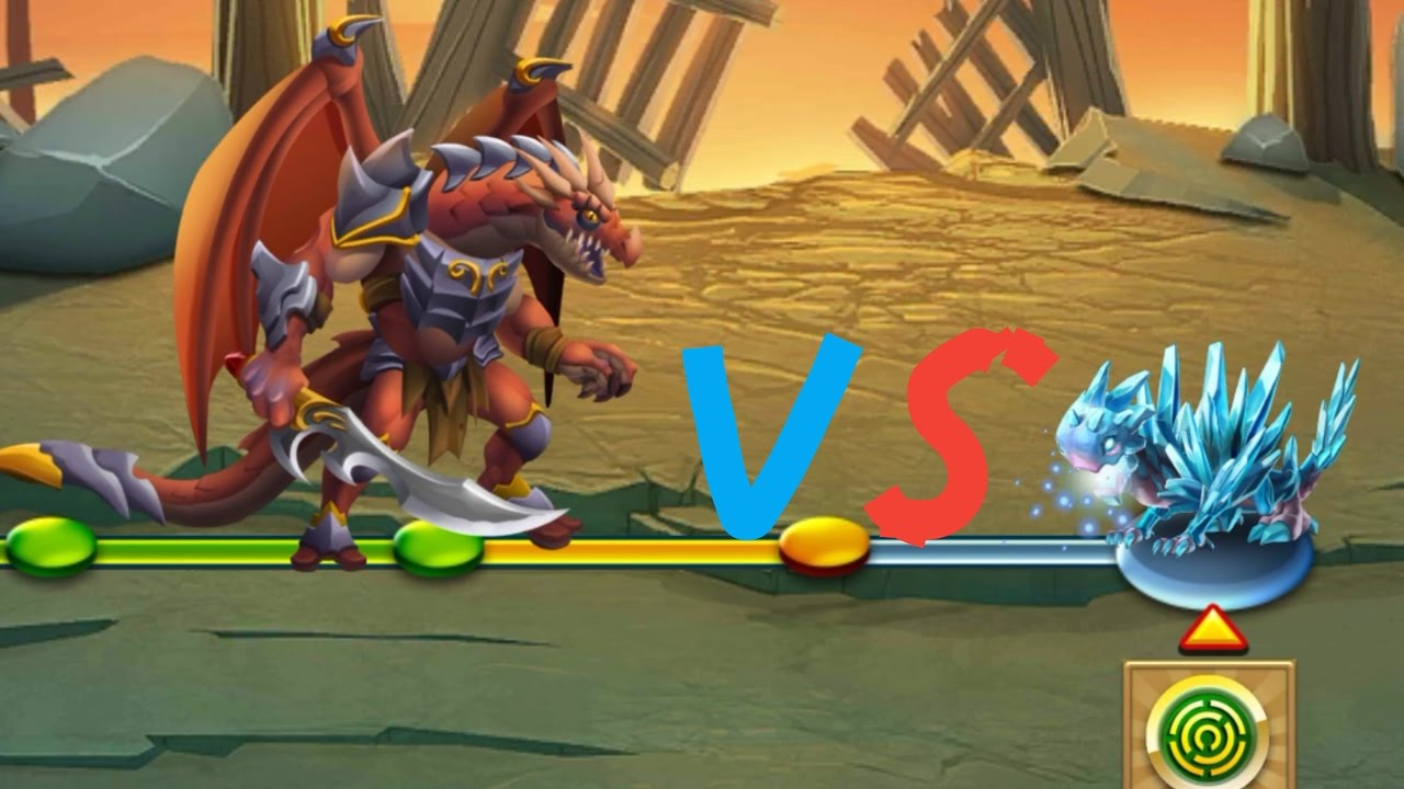 FIRE DRAGON VS ICE DRAGON MONSTER LEGEND