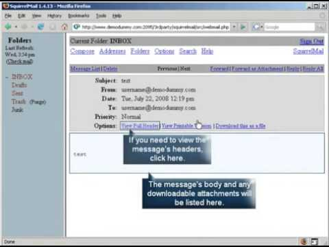 How to use Webmail, SquirrelMail