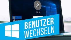 Benutzer unter Windows 10 wechseln | Einstellungen des Benutzerkontos ändern
