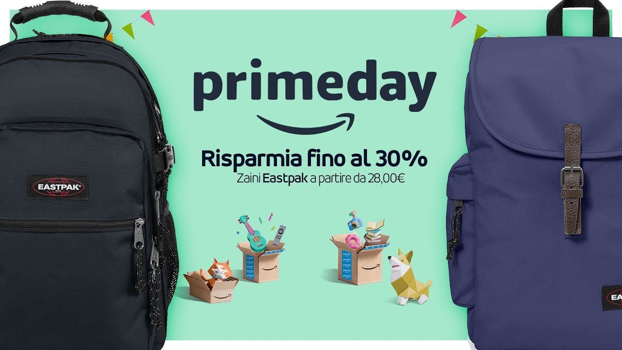 negozio online f23d9 f2d0f Amazon Prime Day: gli zaini Eastpak - YouTube