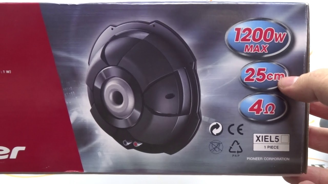 Subwoofer 10 Pol. Pioneer Slim Ts-sw2502s4 300w Rms 4 Ohms By Enfeit ... bf5d4b181d6
