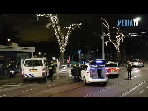 Waarschuwingsschoten bij aanhouding gevaarlijke verdachten Nieuwe Binnenweg Rotterdam