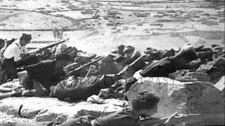 Spain Republic troops fight against Army of Nationalist Spain during Spanish Civi...HD Stock Footage