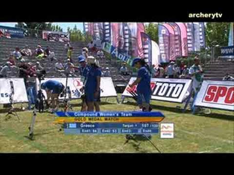 France v Greece – compound women's team gold | Boé 2008 Archery World Cup stage 4