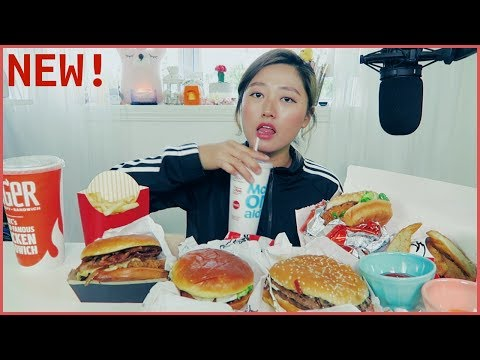 New Items from McDonald's, Burger King & KFC Mukbang!