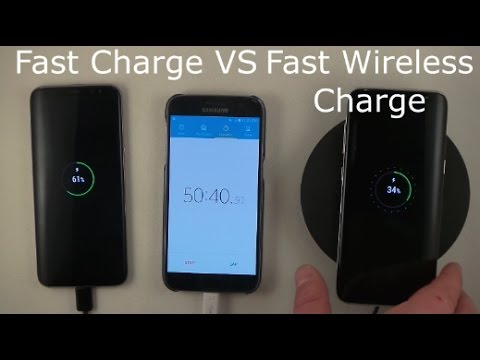 Fast Charge vs Fast Wireless Charging TEST! | Galaxy S8
