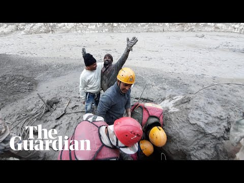Jubilation as man rescued from tunnel after glacier bursts India dam