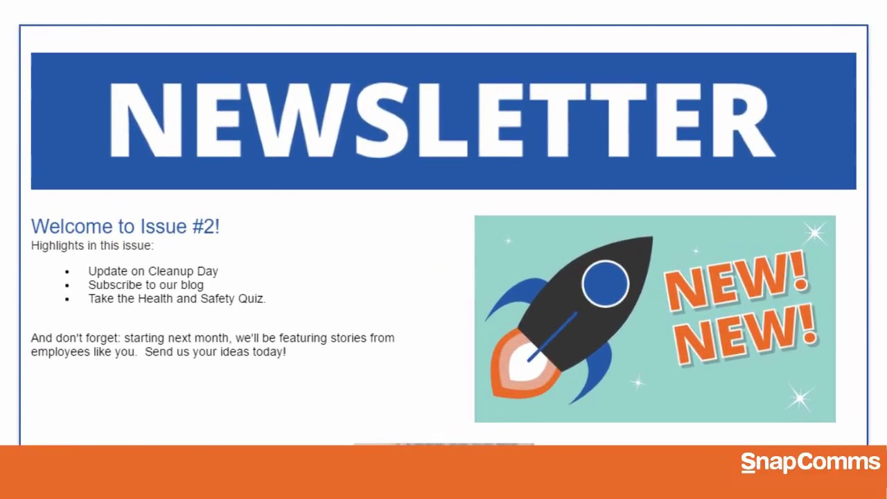 how to create a newsletter