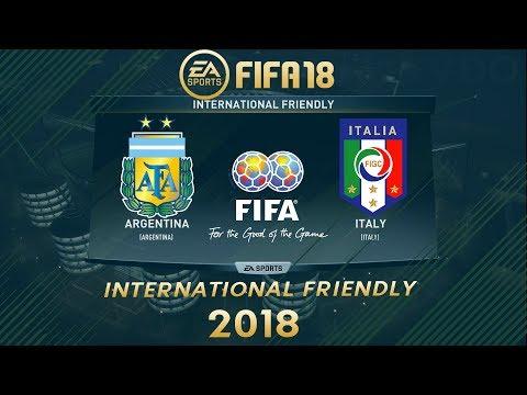 FIFA 18 Argentina vs Italy | International Friendly 2018 | PS4 Full Match