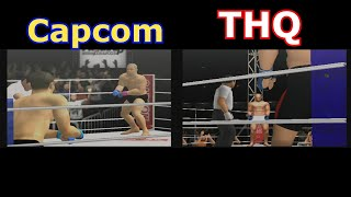 PS2 Pride FC Games Comparison from Capcom and THQ