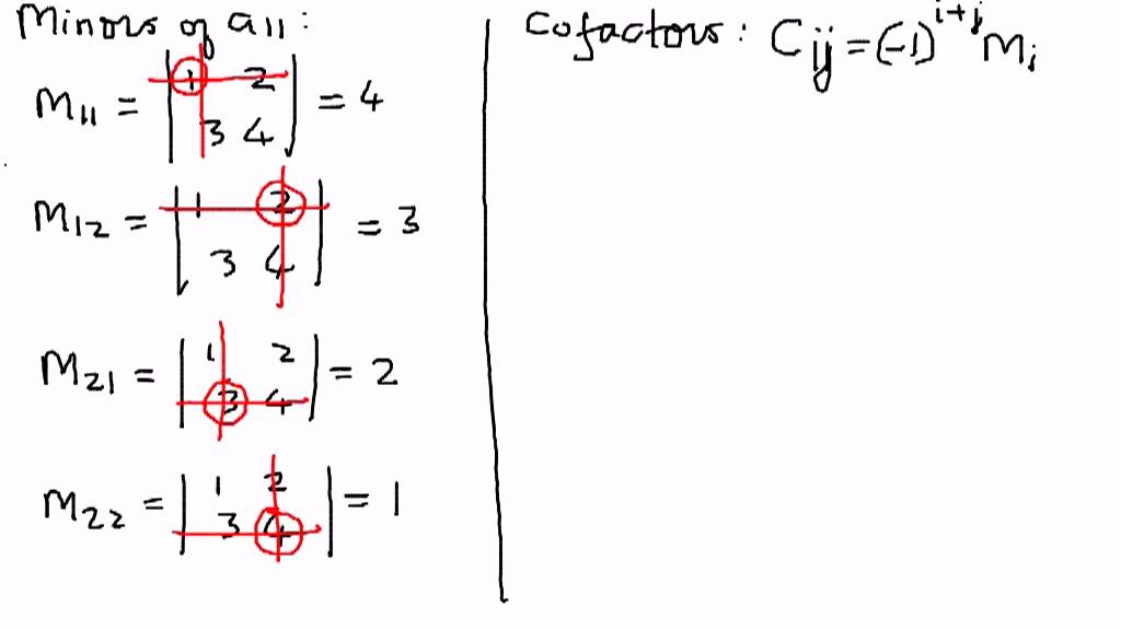 Determinants -- Minors and Cofactors Example 1