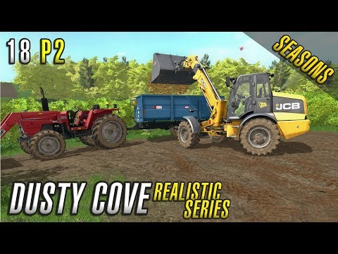 BROWN GOLD | Realistic Farming Simulator 17 | Dusty Cove | Day 18 Part 2