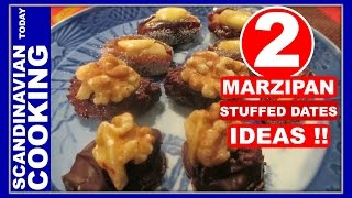 Marzipan Filled Dates - Diy Two Easy Christmas Candy Recipes