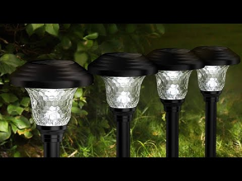 Balhvit Glass Solar Lights Outdoor Review, IP65 waterproof glass pathway lights that illuminates a g
