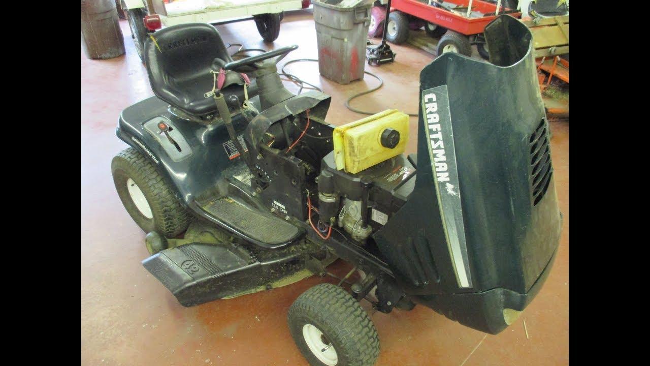hight resolution of sears riding mower steering gear repair