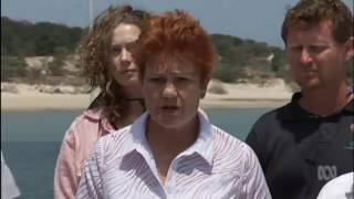 Reef in pristine condition , claims Pauline Hanson diving in the wrong location for coral bleaching