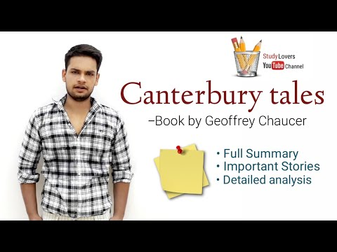 canterbury tales in Hindi summary Knight's, Miller's, wife of bath's, Pardoner's, Geoffrey Chaucer