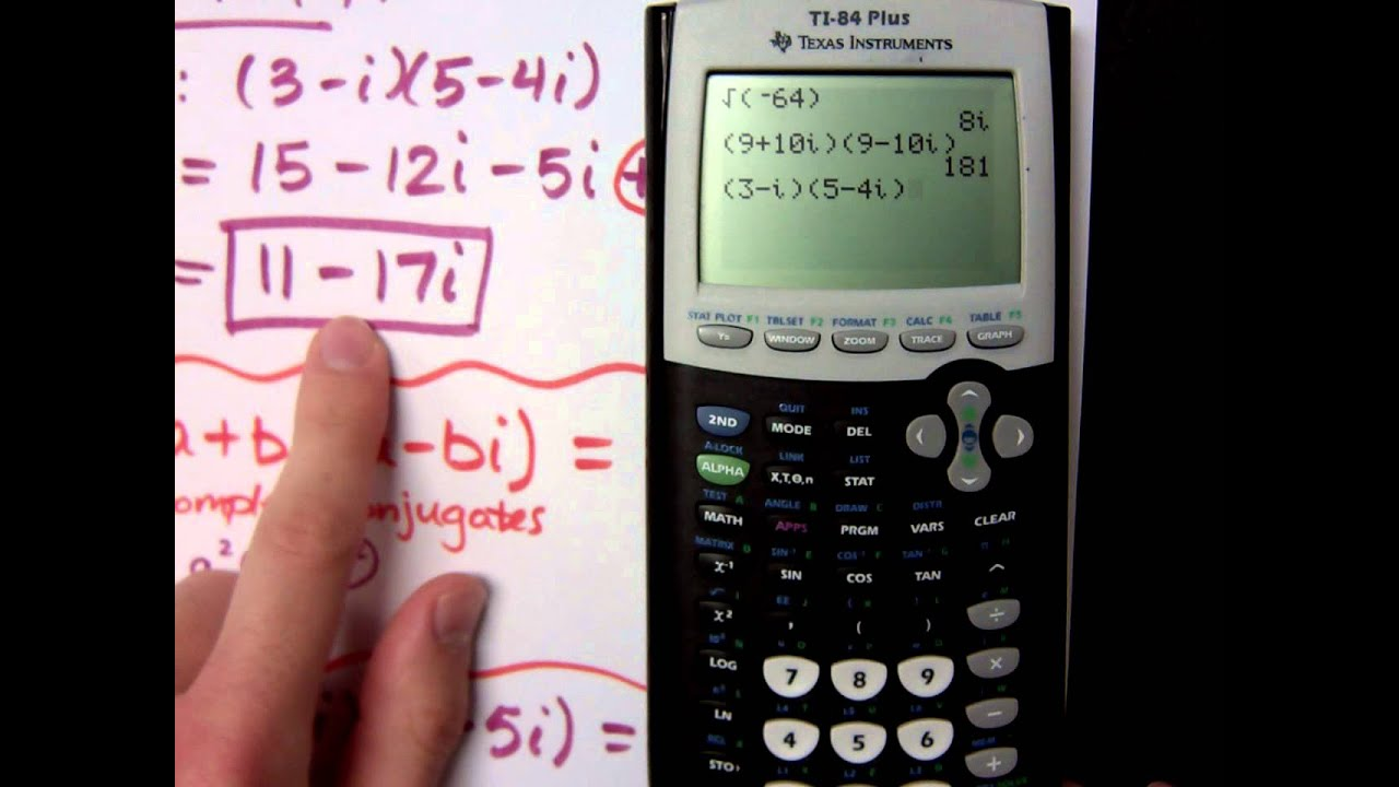 College Algebra - Part 16 (Complex Numbers on the Calculator ...