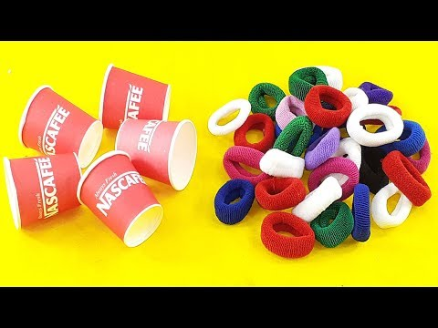 Amazing creative idea Out of Paper cups  & Hair rubber bands | DIY HOME DECO | DIY art and craft