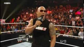 WWE - The Rock Returns To Monday Night Raw 2-14-11 - Part 2/2