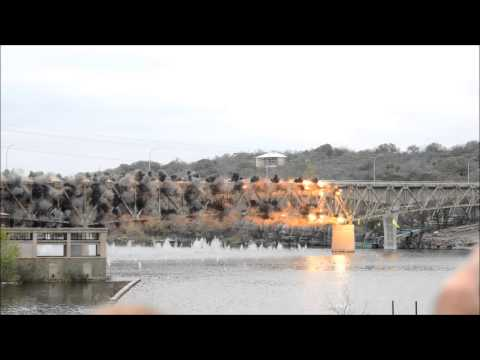 Bridge Implosion in Marble Falls TX (with slow motion!)