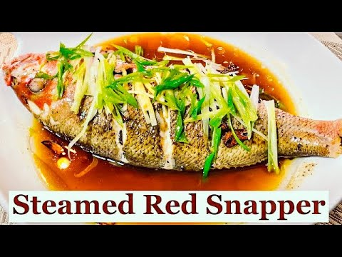 Steamed Fish With Ginger And Green Onion    Red Snapper   Quick And Easy