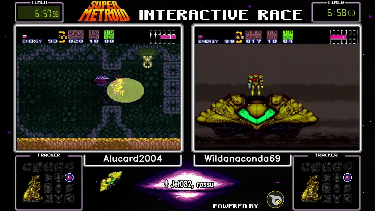 Super Metroid Interactive Race (Crowd Control)  Alucard2004 vs  Wildanaconda69