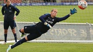Equipe de France Féminine : l'entrainement des 4 gardiennes de but