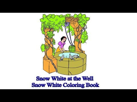 Snow White at the Well | Snow White Coloring Book