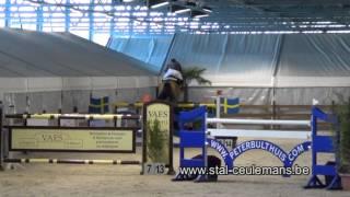 Umosa B, Patrik Spits, CSI Genk, 1ste place 1.40m, 27-10-2012