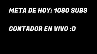 CONTADOR DE SUBS - META DE HOY…