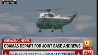 Former US president - Barrack Obama, Family leave Washington
