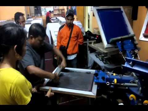 CMYK Silkscreen Printing Technic