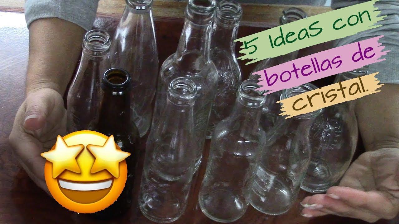 5 Manualidades Con Botellas De Cristal Mini Ideas Que Debes Intentar Hacer Youtube