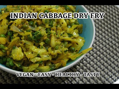 Cabbage Fry Recipe Indian Vegan Sabzi