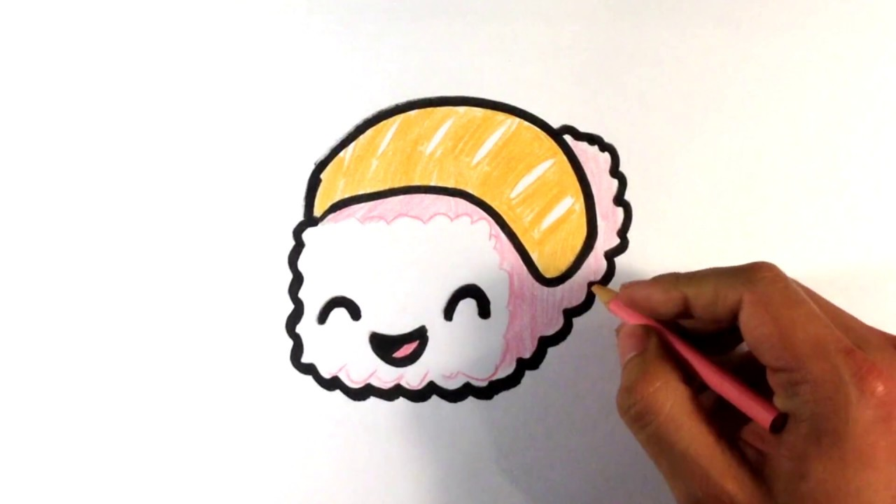 This is a photo of Epic Sushi Drawing Easy